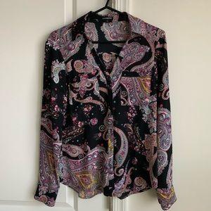 Express black paisley Portofino shirt